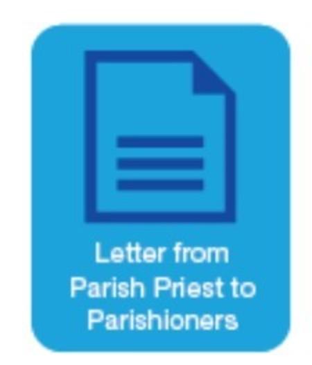 Letter to Parishioners