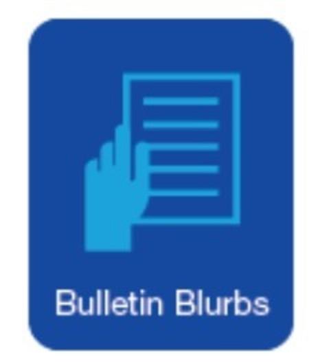 Bulletin Blurbs